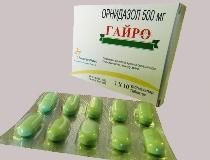 Гайро: инструкция, цена, отзывы, противопоказания к использованию орнидазола